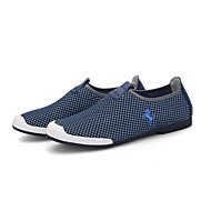 Men's Loafers & Slip-Ons Comfort Driving Shoes Tulle Summer Casual Walking Comfort Driving Shoes Plaid Flat Heel Gray Navy Blue Burgundy