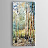 Handgeschilderde Landschap Abstracte landschappen Verticaal,Modern Eén paneel Canvas Hang-geschilderd olieverfschilderij For Huisdecoratie