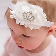 cheap Kids' Accessories-Girls' Hair Accessories, All Seasons Tweed Chiffon Headbands - White Blushing Pink Fuchsia Light Blue Lavender