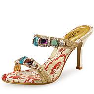 baratos Sapatos Femininos-Mulheres Sapatos Sintético / Gliter Sapatos clube Sandálias Salto Agulha Pedrarias Amarelo / Casamento / Festas & Noite / Festas & Noite