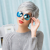 Unique Slightly Texture Short Capless Wigs Natural Straight Human Ombre Blends Hair 2017