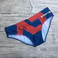 Pánské Kalhotky Plavky Nylon Spandex,Tisk Námořnická modř