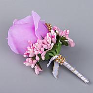 Χαμηλού Κόστους Λουλούδια-Λουλούδια Γάμου Ελεύθερης Μορφής Τριαντάφυλλα Μπουτονιέρες Γάμος Πάρτι/ Βράδυ Σατέν Ελαστικό σατέν