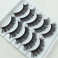 Eyelashes Full Strip Lashes Eyes Crisscross Lifted lashes Handmade Fiber Black Band