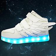 tanie Obuwie chłopięce-Dla chłopców Obuwie Skóra Wiosna / Jesień Wygoda / Zabawne / Świecące buty Tenisówki Tasiemka / LED na Czerwony / Zielony / Niebieski