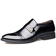 cheap Men's Leather Shoes-Men's Shoes Leather Spring / Fall Comfort / Fashion Boots / Formal Shoes Oxfords Black / Brown / Party & Evening / Leather Shoes