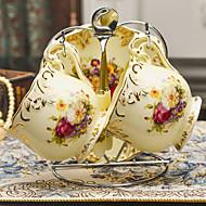 copo de café 1pc e conjunto de pires apresenta caneca de cerâmica do vintage
