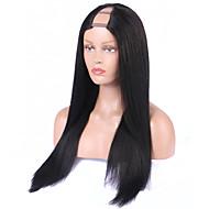 mittlere Seitenteil der Perücken des brasilianischen Haares upart Perücke gerade u menschliches Haar Perücken 8a unverarbeitetes