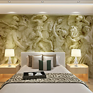 cheap Wallpaper-Art Deco 3D Home Decoration Contemporary Wall Covering, Canvas Material Adhesive required Mural, Room Wallcovering