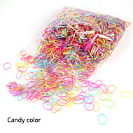2000Pcs 1Bag Hair Tie Band Ponytail Holder Elastic Rubber Headband Women Hair Styling Accessories Clear