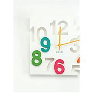 אחרים אחרים שעון קיר,ריבוע פלסטיק 29.58*1.2 בבית שָׁעוֹן