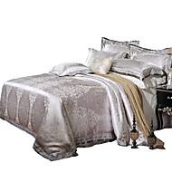 Blumen Seide/Baumwolle 4 Stück Bettbezug-Sets