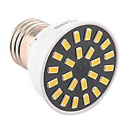 billige Spotlys med LED-1pc 4W 400-500lm E26 / E27 LED-spotpærer MR16 24 LED perler SMD 5733 Dekorativ Varm hvit Kjølig hvit 110-130V 220-240V