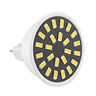 ywxlight® gu5.3 led spotlight mr16 24 smd 5733 400-500lm varm hvit kald hvit dekorativ ac 220-240v / 110-130 v