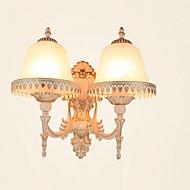 baratos Arandelas de Parede-Rústico / Campestre / Tradicional / Clássico / Moderno / Contemporâneo Luminárias de parede Metal Luz de parede 220V / 110V 2*60W
