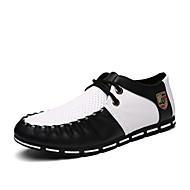Muške Oksfordice Udobne cipele Par obuća Cipele za ronjenje PU Ljeto Kauzalni Udobne cipele Par obuća Cipele za ronjenje VezanjeRavna