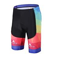 Miloto Unisex Cykelshorts med indlæg Cykel Forede shorts / Underdele 3D Måtte, Komprimering, Reducerer gnavesår Spandex, Lycra Sort