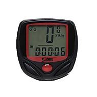 사이클링 산악 자전거 자전거 디지털 장비 Av - 평균 속도 주행 기록계 SPD - 현재 속도 주행 거리계(오도미터) Tme - Lapsed Time 블랙 ABS