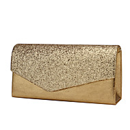 cheap Wedding Bags-Women's Bags Glitter Satin Evening Bag Tri-fold for Wedding Event/Party Formal All Seasons Gold Black Silver Almond