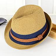 Uniseks Color block Vintage Ležerne prilike Ribički šešir Slamnati šešir Šešir za sunce