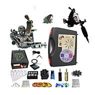 baratos kits profissionais do tatuagem-BaseKey Máquina de tatuagem Kit de tatuagem profissional, 2 pcs máquinas de tatuagem - 1xMáquina Tatuagem de aço para linhas e sombras /