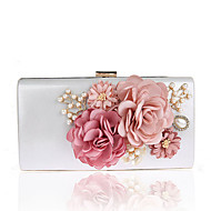 Women Bags Polyester Evening Bag Imitation Pearl Flower for Wedding Event/Party Casual Formal Office & Career Winter Spring Summer Fall