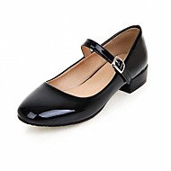cheap Women's Flats-Women's Shoes Leatherette PU Spring Summer Comfort Novelty Flats Walking Shoes Flat Heel Round Toe Buckle for Wedding Casual Party &