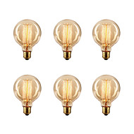 baratos Incandescente-Ecolight™ 6pcs 40W E26 / E27 G80 2300k Incandescente Vintage Edison Light Bulb 220-240V