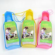 ネコ 犬 餌入れ/水入れ ペット用 ボウル&摂食 携帯用 レッド ブルー イエロー プラスチック