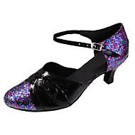 baratos Sapatilhas de Dança-Mulheres Sapatos de Dança Latina / Sapatos de Dança Moderna Glitter / Courino Sandália Salto Personalizado Personalizável Sapatos de Dança