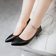 זול Small Size Shoes-בגדי ריקוד נשים נעליים דמוי עור / PU אביב / קיץ נוחות / חדשני עקבים הליכה עקב סטילטו בוהן מחודדת שחור / אדום / כחול / חתונה / מסיבה וערב