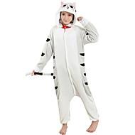 Kigurumi plišana pidžama Mačka Onesie pidžama Kostim Flanel Flis Sive boje Cosplay Za Odrasli Zivotinja Odjeća Za Apavanje Crtani film