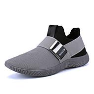 billige -Sneakers-Tyl-Komfort Lysende såler-Herre-Sort Blå Grå-Udendørs Fritid-Flad hæl