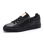Heren Sneakers Comfortabel Vulcanized Shoes Leer Lente Zomer Herfst Winter Sportief Causaal Wandelen Comfortabel Vulcanized Shoes Veters