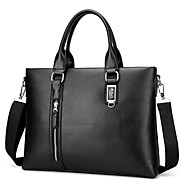 Men Bags PU Shoulder Bag for Casual Office & Career All Seasons Black Brown