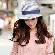 Žene Prugasti uzorak Vintage Ležerne prilike Ljeto Slama Ribički šešir Slamnati šešir Šešir za sunce Plava