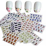 1set 44pcs Nagelkunst sticker Watertransfer decals make-up Cosmetische Nagelkunst ontwerp