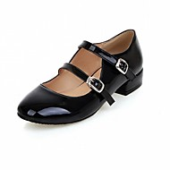 cheap -Women's Shoes PU Leatherette Spring Summer Novelty Comfort Flats Walking Shoes Flat Heel Round Toe Buckle for Wedding Office & Career