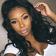 10-26 Inch 100% Human Virgin Hair Lace Wig Lace Front Black Color Body Wave Lace  Wig-glueless with Baby Hair