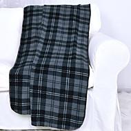 フランネル ブルー,プリント 格子柄 ポリエステル100% 毛布 127x152cm