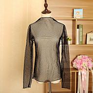Bluza Žene Jednobojni Uski okrugli izrez Čipka Poliester