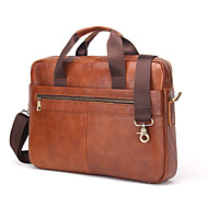 Men Bags All Seasons Cowhide Laptop Bag for Office & Career Brown