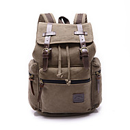 Unisex Bags All Seasons Canvas Backpack for Shopping Casual Sports Outdoor Office & Career Professioanl Use Blue Brown Black Camel