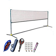 Badminton Posts and Net Badminton Net Badminton Rackets Feather Shuttlecocks Nondeformable High Elasticity Durable for Carbon Fiber