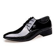 גברים נעליים עור אביב קיץ סתיו חורף נעלי בולוק נעלי אוקספורד הליכה שרוכים עבור קזו'אל מסיבה וערב שחור כחול