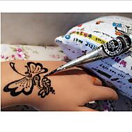 114*3*3-HennaCsillogás-Fekete-Baba Gyerek Női Girl Férfi Felnőtt Boy Tini-Lemosható festékek