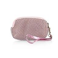 お買い得  クラッチバッグ&イブニングバッグ-女性用 バッグ プラスチック / メタル 財布 / ジッパ- アクリルジュエル / メタル シルバー / ピンク / コーヒー