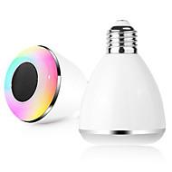 bl08a älykäs bluetooth 4.0 musiikkia kaiuttimen lamppu johtanut lamppu E27 älykkään valon loma Juhlakoristeet lahja