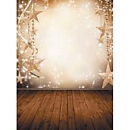 1,5 x 2,1 m vinyl bakgrunn klut fotografering jul fantasy snøfnugg stjerner