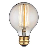 billige Glødelampe-1pc 40 W E26 / E27 G95 Varm hvit 2300 k Kontor / Bedrift / Dekorativ Glødende Vintage Edison lyspære 220-240 V